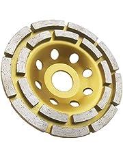 Amoladora de diamante Disco de hormigón Rueda de doble fila Diamond Cup Rectificadora de disco para hormigón, mármol, granito, piedra natural
