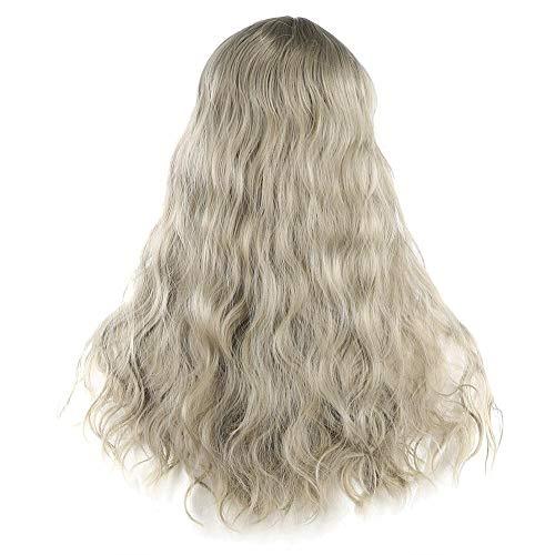 Perruque Longue Bouclée, Longue Big Bouffant Perruques Bouclées pour Femmes Synthétique Résistant À La Chaleur Fibre Cheveux Pièce Longue Perruque Bouclée Femmes Lady Cosplay Party À La Mode