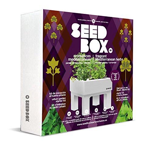 Seed Box Collection Kit d'initiation au Jardin Urbain Herbes aromatiques méditérranéennes