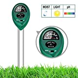 4. yoyomax Soil Test Kit pH Moisture Meter Plant Water Light Tester Testing Kits for Garden Plants