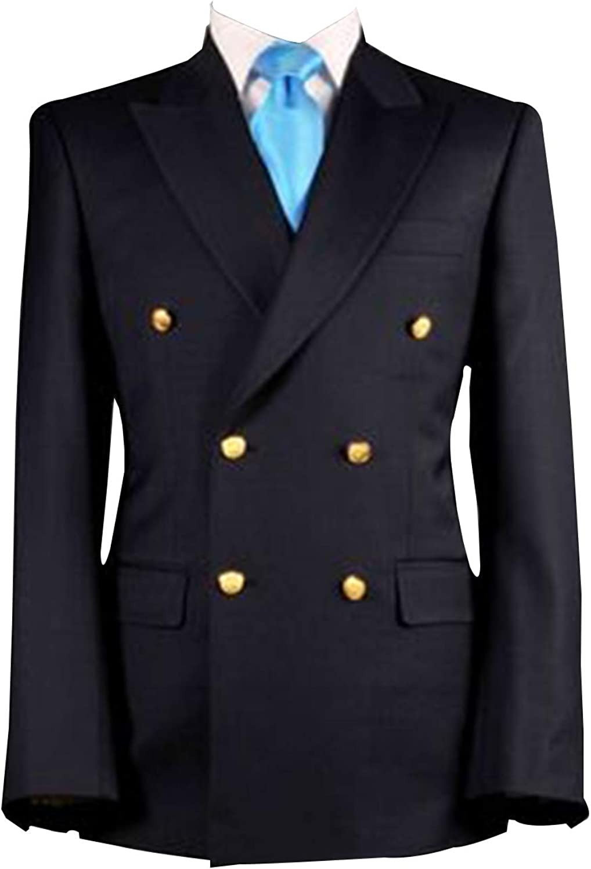 QZI 人気商品 Men's Blazer Slim セットアップ Peak Fit Jack Double Lapel Breasted