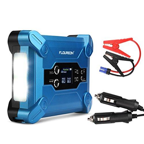Booster Batterie Voiture 500A Pic 15000mAh avec Lampe Torche LED et Fonction Batterie Externe...