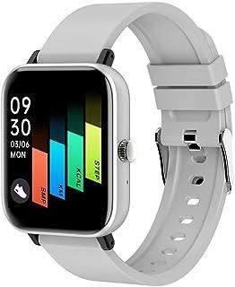 XYCSM Smartwatch, Reloj Inteligente Impermeable IP68 para Hombre Mujer niños, Pulsera de Actividad Inteligente con Monitor de Sueño Contador de Caloría Pulsómetros Podómetro Bueno Valor/Blanco