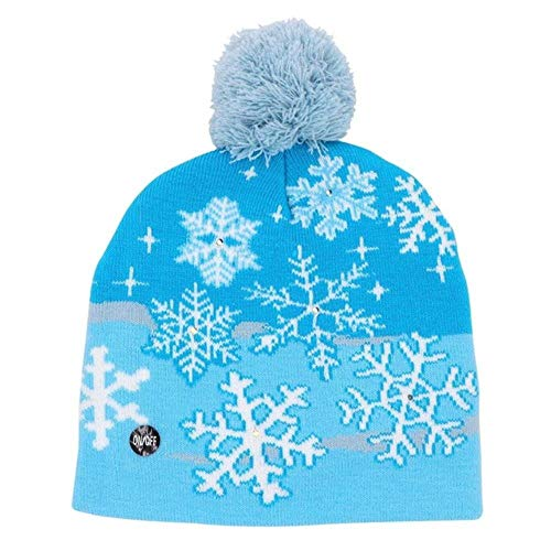 Jfs Led Light Cotton Christmas Hat Knit Up Beanie Hat Gorra...