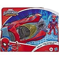 Super Hero Adventures Playskool Heroes Marvel Spider-Man Web Racer, 5-Inch Figure and Vehicle Set, C...