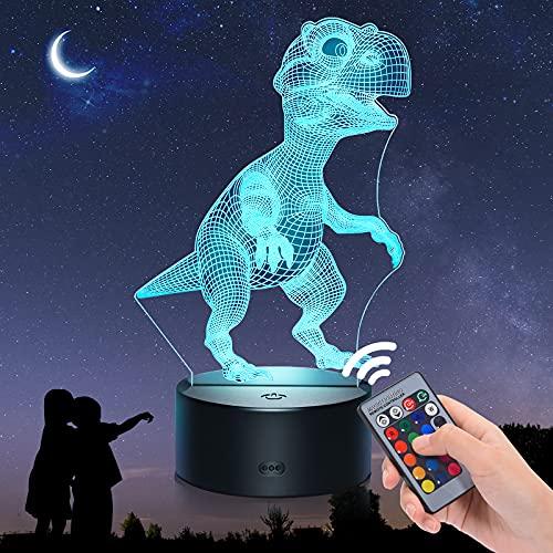 EUCOCO Lampara Dinosaurio, Regalos Niño 2-12 Años Juguetes Niño 2 3 4 5 6 7 8 Años...