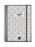 Finocam - Agenda 2021 Semana vista vertical Espiral Personalizable Español
