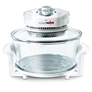 Halowave halogen oven Cooks 40% faster than a conventional oven Halogen handbook full of gourmet recipes Energy efficient, cook on two levels Self-cleaning function
