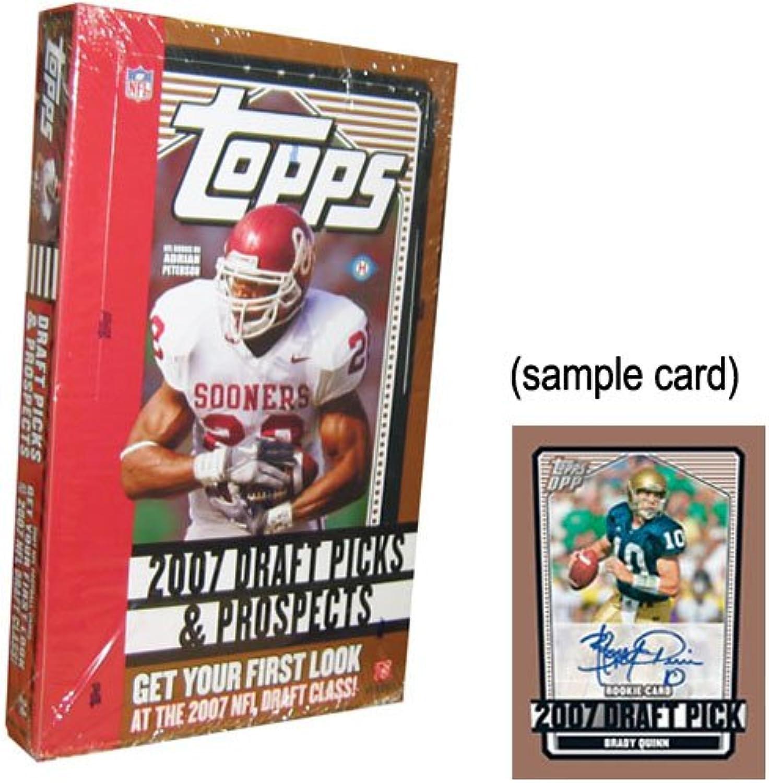 Topps 2007 Draft Picks And Prospects Football HOBBY Box - 24p5c