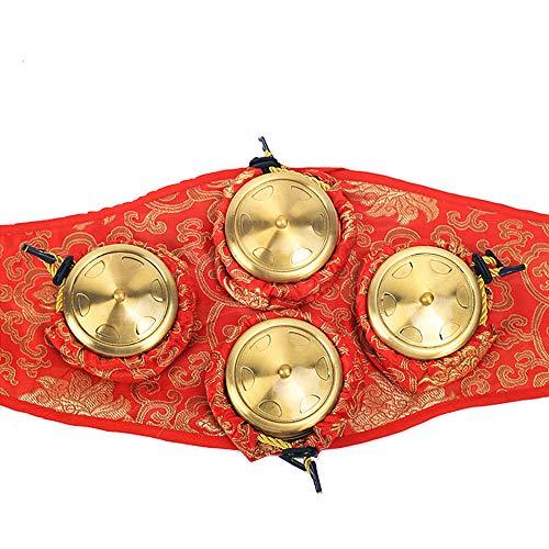 Moxibustion Box 4 piezas de cobre ginecológico palacio frío hogar Moxa aparato masajeador corporal ajenjo