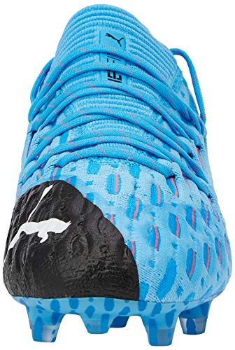 Puma Herren Future 5.1 Netfit Low Fg/ag Fußballschuhe, Gelb (Luminous Blue-NRGY Blue Black-Pink Alert 01), 45 EU - 4
