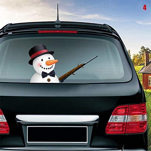 JIEHED Kreativer Auto-Heckscheiben-Aufkleber 3D Santa Claus winkende Hand Auto Fenster Wischer Aufkleber Aufkleber 4