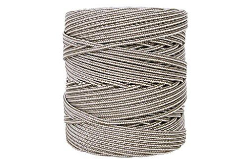 Cordón Trenzado Polipropileno | Para persianas, toldos, cuerda tendedero exterior, etc | Medida de diámetro 5 mm en color Marrón