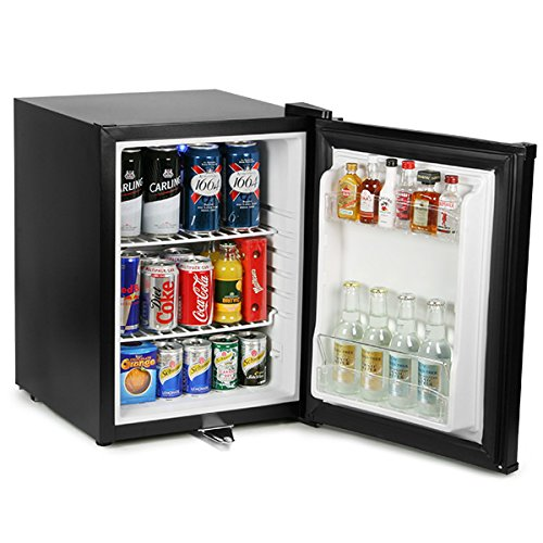 Frostbite Zero Degrees Mini Bar 35ltr - Counter Top Mini Fridge with Lockable Door, Suitable for Milk