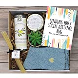 UnBoxMe Care Package For Women | Best Friend Birthday, Mother's Day Gift| Quarantine Care Package | Tea, Honey, Socks, Candle, Plant | Spa Gift Package (Sending Hugs #1)