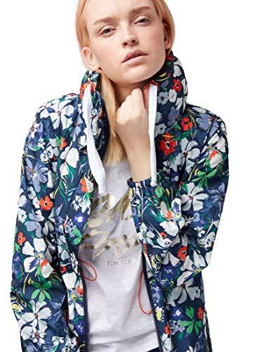 TOM TAILOR Damen Wasser- und windabweisende Übergangsjacke in einem femininen und modernen Schnitt Jacke, Mehrfarbig (Flower Design 15874), Small