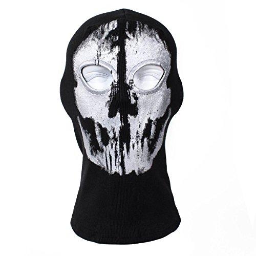 XUE Sturmhaube Ghost Winter für Herren Damen Face Shield Ski Motorrad Paintball Airsoft Halloween Maske