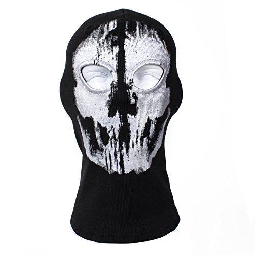 XUE Sturmhaube Ghost Winter für Herren Damen Face Shield Ski Motorrad Paintball Airsoft Halloween Maske
