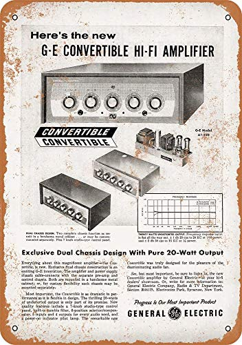 Yohoba 1955 General Electric Hi-Fi amplificadores de Aspecto Vintage 12 x 18...