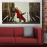 ganlanshu Pintura sin Marco Arte Payaso póster de película y lienzos Sala de Estar Dormitorio Arte Mural Pintura Decorativa modernaZGQ5206 40X70cm
