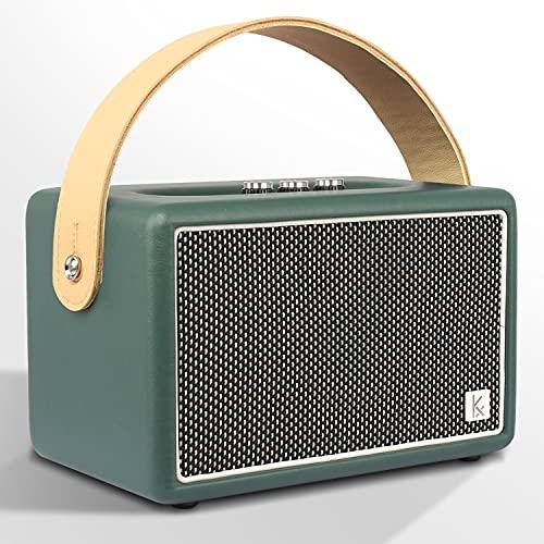 Vintage Bluetooth Speaker, KONEX 40W Leather Portable Wireless Speaker, Bluetooth 4.2 Heavy Bass...