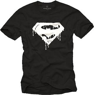 MAKAYA Superheroe - Camiseta Negra Hombre