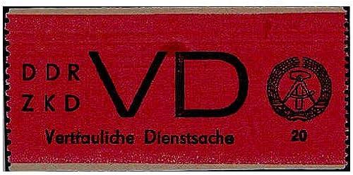 Goldhahn DDR Dienst D Nr. 1C postfrisch  Briefmarken für Sammler