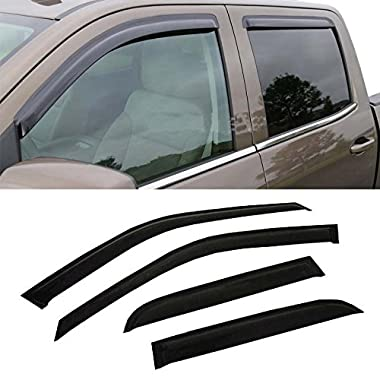 Mifeier Sun/Rain Guard Vent Shade Window Visors Wind Deflector For 04-15 Nissan Titan Crew Cab (With 4 Full Size Doors) 4pcs