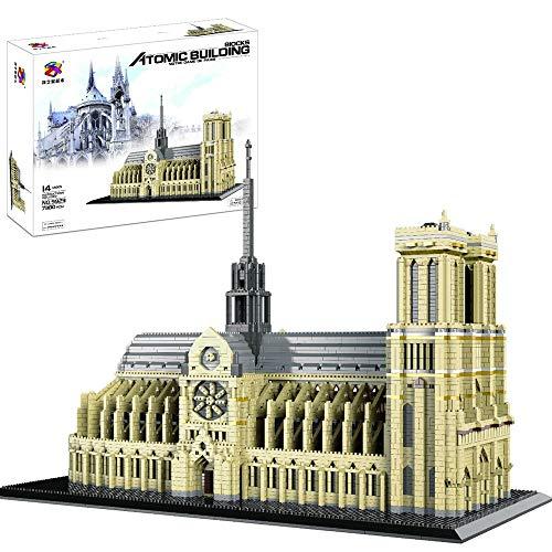 Nanoblock -France Notre-Dame De Paris (Grand) Kits De Modèle Architectural De L'église Gothique, Cadeau De Modèle pour Adultes, 7380 Pcs