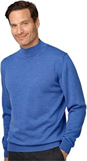 Paul Fredrick Men's Italian Merino Wool Mock Neck Sweater