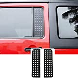 JeCar Car Rear Door Window Glass Panel Cover Trim for 2007-2018 Jeep Wrangler JK & Unlimited 4-Door