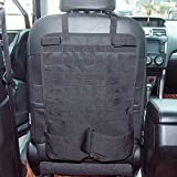 Car Seat Back Organizer with Gun Rack Feature Tactical Seat Cover Molle Vehicle Panel Car Seat Cover Protector Universal Fit Vehicles SUV Truck MPV Pickup