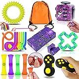 Yetech Juguetes Sensoriales Kit,Galaxy Juguete Antiestrés Stress Cube,Juguetes contra La Ansiedad, Autismo Necesidades Especiales Aliviador del Antiestrés del Juguetes para Niños Adultos Relajarse