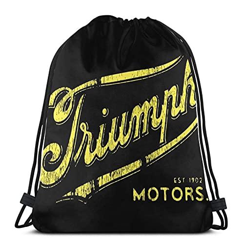 JIAMEIMEI Vintage Triumph Motorcycle Sacca Sportiva Zaino con Coulisse Borsa da Palestra Leggera Sackpack per Sport da Spiaggia Yoga da Viaggio in Palestra Drawstring Bag