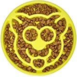 BeOneBreed Slow Feeder Cat Bowl - Cat Food Bowl - BPA Free - Anti Gulping - Anti Slip Bottom - Helps Digestion