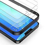 BANNIO 3 Pezzi Vetro Temperato Compatibile con iPhone 12/iPhone 12 Pro,Curva Full Screen Pellicola Protettiva Compatibile con iPhone 12/iPhone 12 Pro,Copertura Totale Protezione Schermo,Anti-impronte