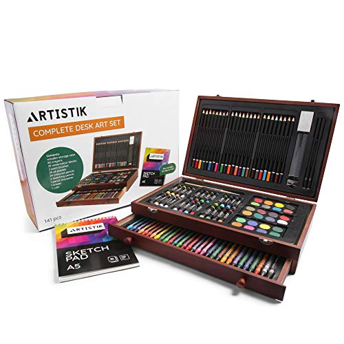 Artistik Deluxe Art Set - (141 Piece) Professional Painting, Sketching & Drawing   All Media Art...