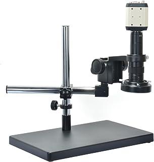 1080P VGA AV USB 3 in1 Digital Industry Microscope Camera Set & Big Stand Universal bracket & 180X Zoon C-MOUNT Lens & 144...