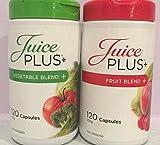 Juego de 2 botes de suplemento Juice Plus+ con 120 cápsulas de mezcla defrutas y verduras