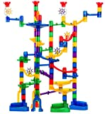 Marble Genius Marble Run Super Set - 150 Complete Pieces + Free Instruction App (85 Translucent Marbulous Pieces + 65 Glass Marbles)