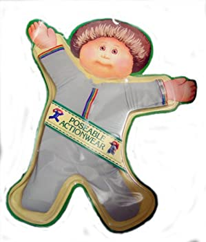 Vintage CABBAGE PATCH KIDS CPK GREY Poseable Actionwear play outfits 1984