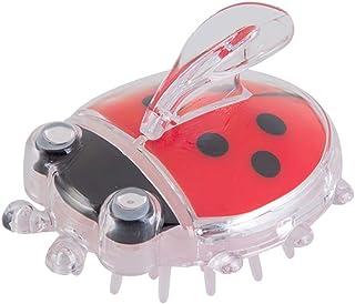TOPBATHY 生まれたばかりの乳児の赤ちゃんのためのマッサージコームヘアーブラシヘッドバスブラシ(赤Coccinella)1個