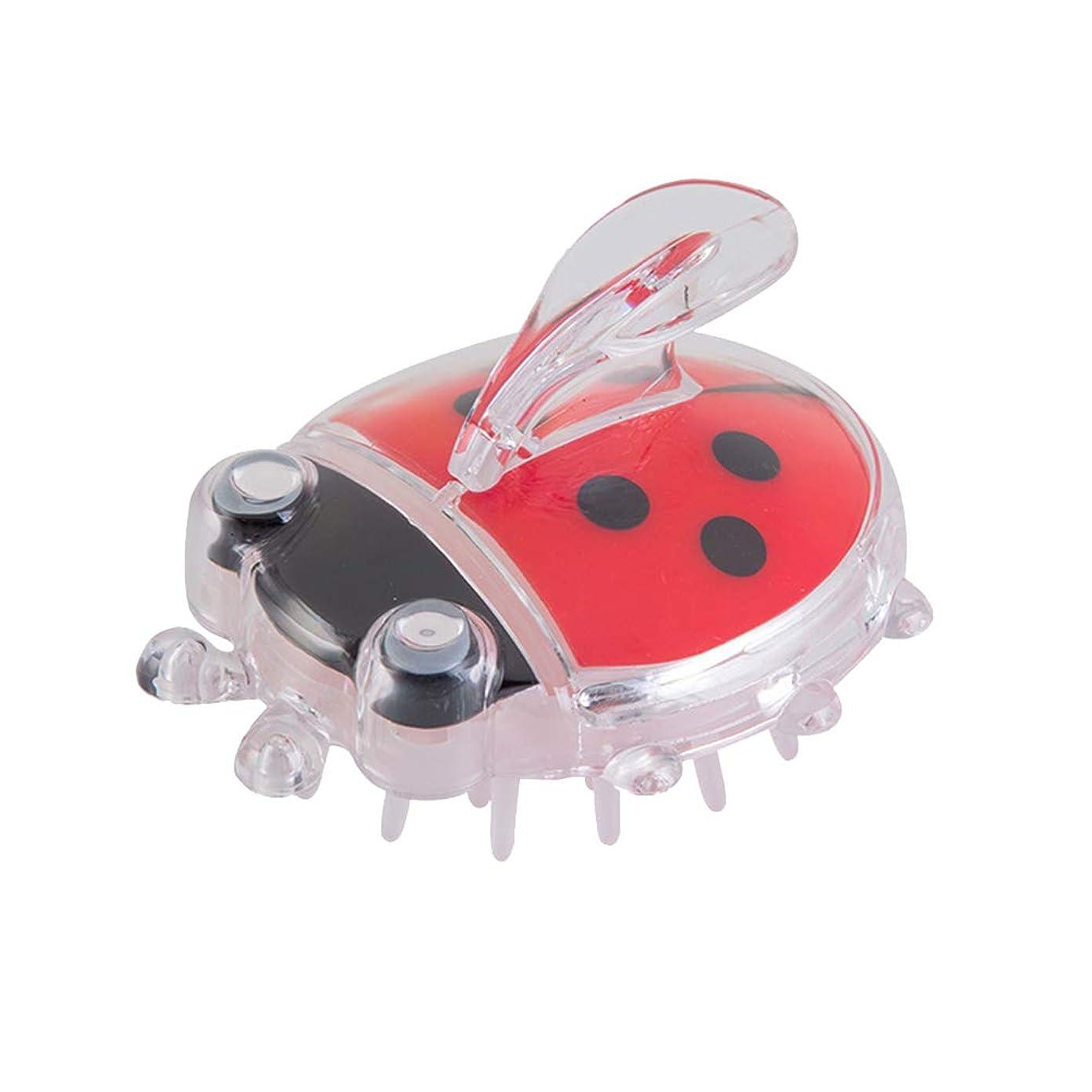 速いあからさま担当者TOPBATHY 生まれたばかりの乳児の赤ちゃんのためのマッサージコームヘアーブラシヘッドバスブラシ(赤Coccinella)1個