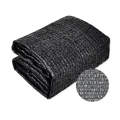 Hllngnqn 40% Shade Cloth Sun Net, Sunblock Garden Shade Mesh Fabric for Garden Flower, Patio, Plant Cover, Greenhouse, 6x8ft, Black