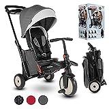 smarTrike STR5 Tricycle Pliable Enfant avec Certification Poussette pour 1,2,3 Ans - Tricycle à Plusieurs Étapes 7 en 1 (Gris)