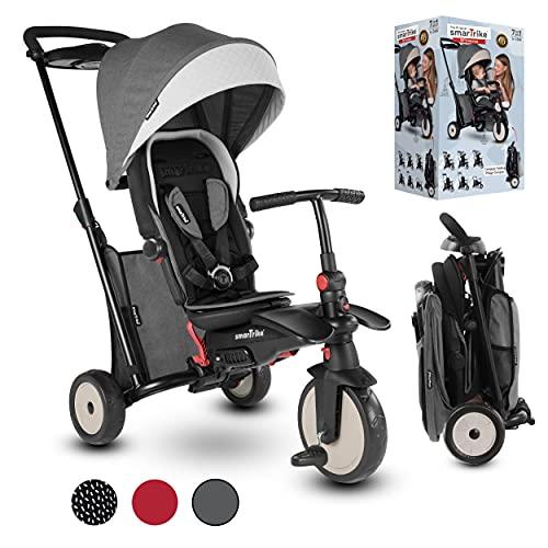 smarTrike STR5 Triciclo con Certificazione di Passeggino per Bambini di 1,2,3 Anni - 7 in 1 Trike Multi-Stadio (Grigio)