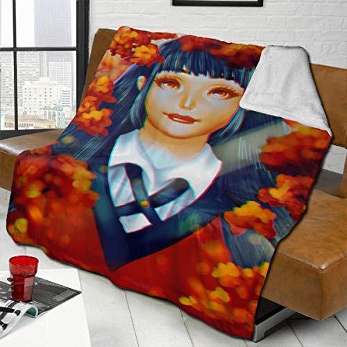 959 Custom Personalized Classic Blankets, Kakegurui Yumeko Jabami Soft Sofa Throw,Comfortable Durable Double Sided Blanket for Work Couches Decorative 80X60 in