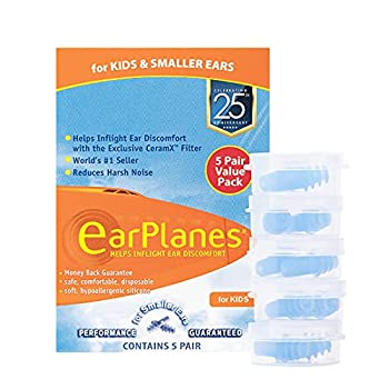 EarPlanes Ear Plugs Kid s Small Size 1 Pair  Pack of 5