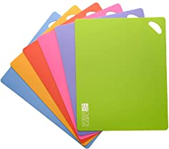 Slice Bright Flexible Cutting Mats are The Safer, Smarter, Faster and Easier Way to Prepare Your Food. Set of six Colorful...