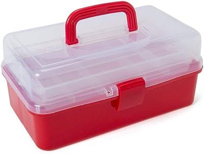 Suhav Multi-Purpose Tool Box Portable 3 Layer Compartment Storage Box,Medicine, Cosmetic, Garage.